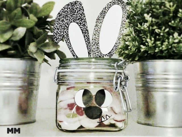 Ostergeschenk - Einmachglas mit Hasendeko