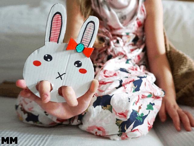 Häschen-Fingerpuppe für Ostern