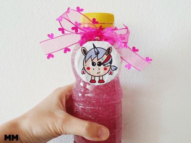 Glitterflasche für kleine Einhornfans