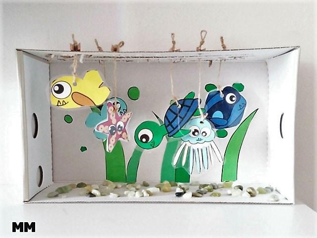Einfaches Aquarium basteln