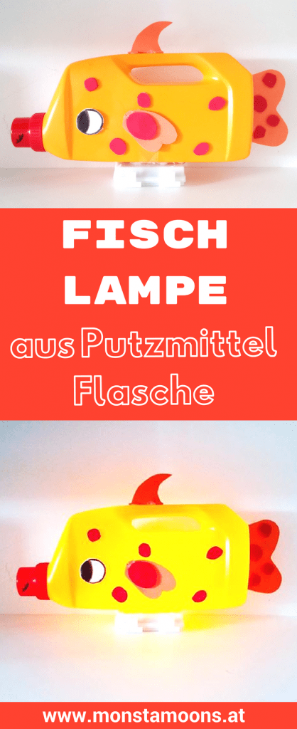fisch lampe aus alter putzmittelflasche basteln upcycling. Black Bedroom Furniture Sets. Home Design Ideas