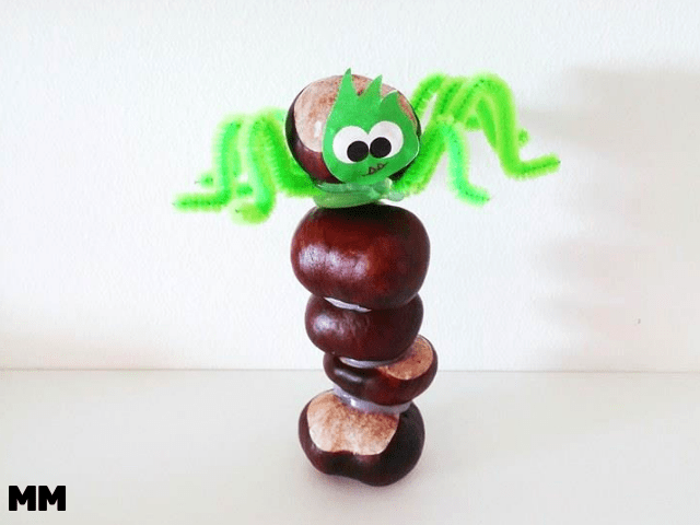 Kastanien-Spinnen zum Knutschen ;)