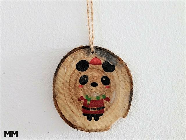 Christbaumanhänger aus Holz durch Bild-Holz Transfer
