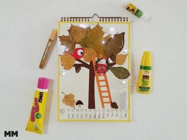 Kalender Basteln mit UHU – der bunte Oktober