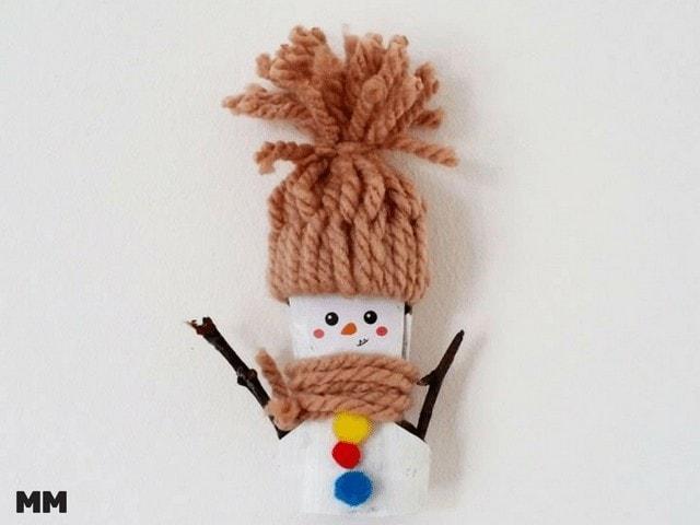 Einfachen Schneemann basteln