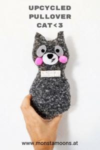 Genähte Waschbär Katze