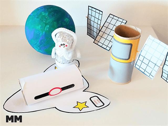 Bau dir deinen Weltraum – Klorollenspaceshuttle und Satellit