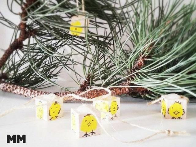 Kükenanhänger für den Osterbaum