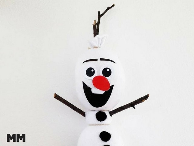 Olaf aus Socken zum Kuscheln