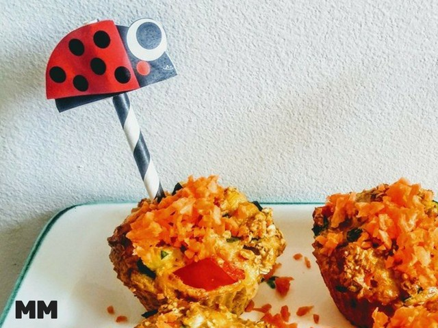 Gemüse – Hafer Muffins mit Käferdeko