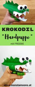 Krokodil Handpuppe