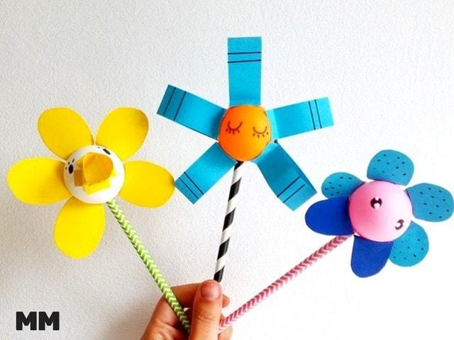 Coole Blumen aus Ping Pong Bällen basteln