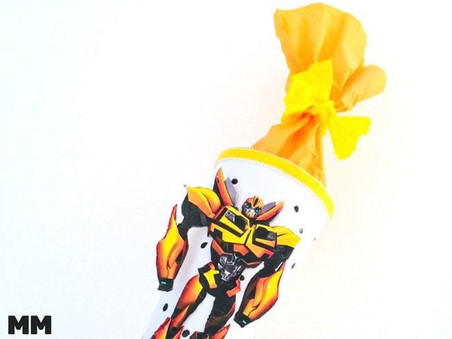So machst du eine Transformer Schultüte