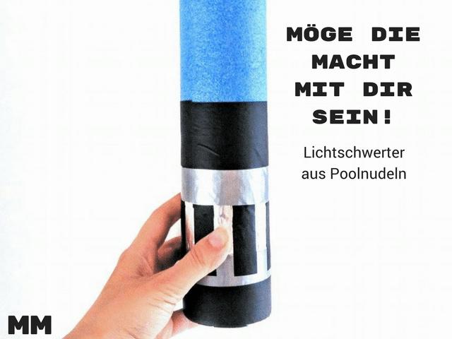 Star Wars Lichtschwerter aus Poolnudeln