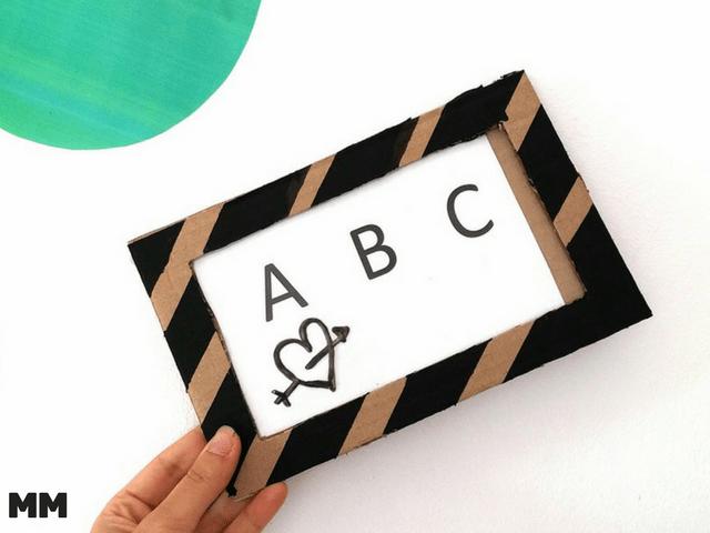 Cooles Mal- und Schreibboard aus Karton