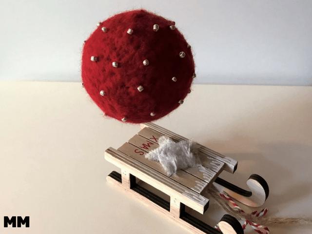 Gefilzte Weihnachtsbaumanhänger