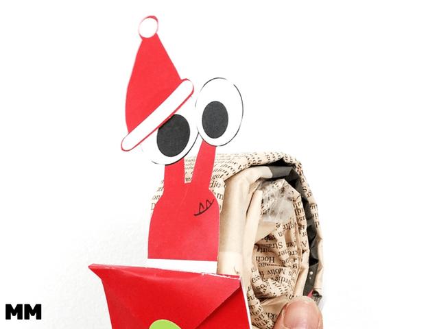 Santas Schnecken als Geldgeschenk