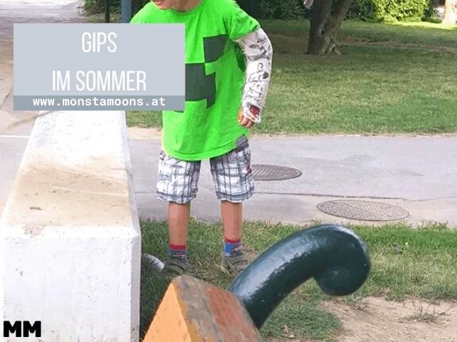 Aktivitäten mit Gipsarm im Sommer