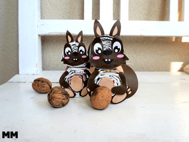 Eichhörnchen basteln mit Altpapier