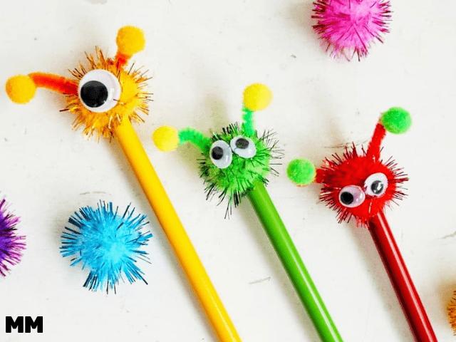 Pimpe deine Stifte – Monster/Alienstifte schnell selbst gemacht (enthält WERBUNG)