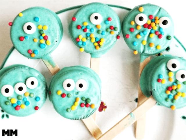 Monster Oreo-Pops für die Kinderparty oder Halloween