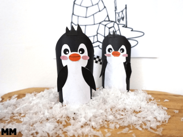 Pinguin Freebie für die Klopapierrolle