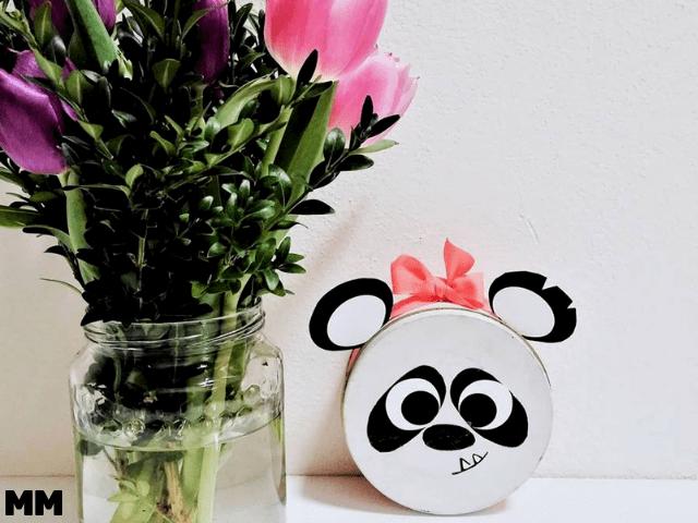 Teedose mit Panda-Motiv upcyclen