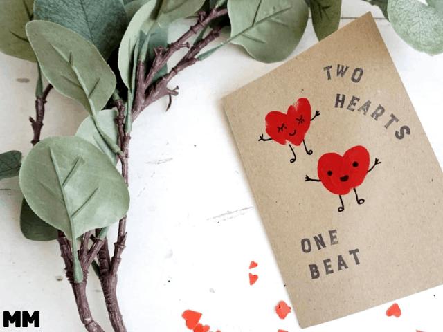 Niedliche Herzkarte ohne viel Aufwand