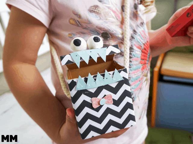 Monster Umhängetasche für die Kinderparty