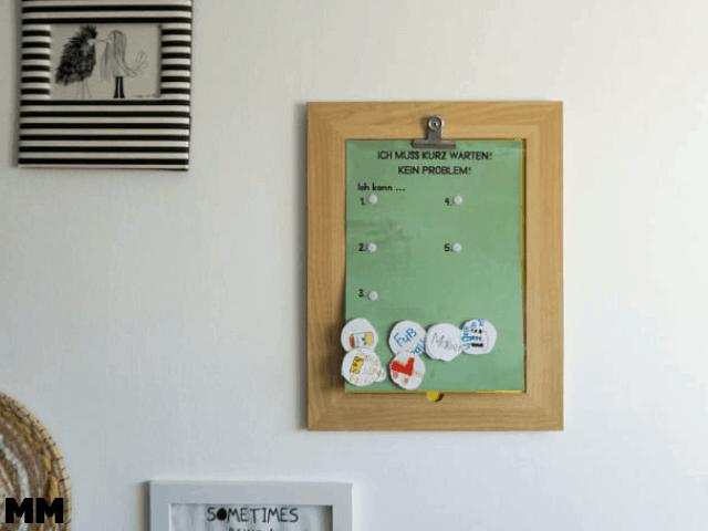 Choice Board – Ich muss kurz warten