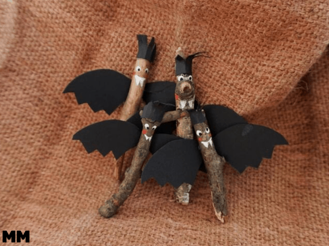 """Gruselige ;)"" Fledermäuse für Halloween"