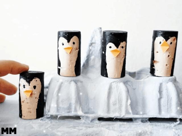 So bastelst du Pinguine auf der Eisscholle