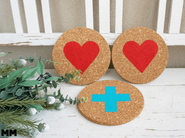Geschenkidee: Topfuntersetzer mit Herzen