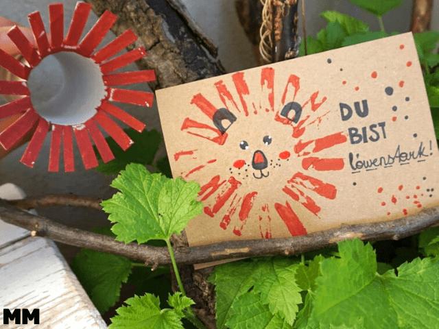 Löwenkarte mit Klorolle stempeln