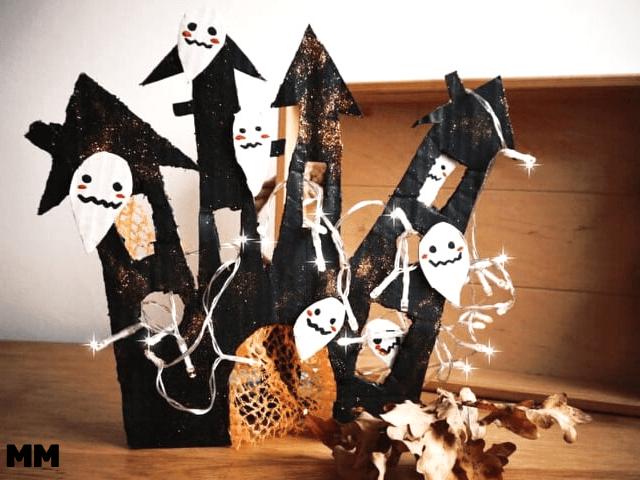 Geisterschloss aus Karton basteln