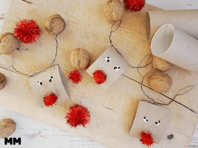 Einfache Rudolfs aus Klopapierrollen